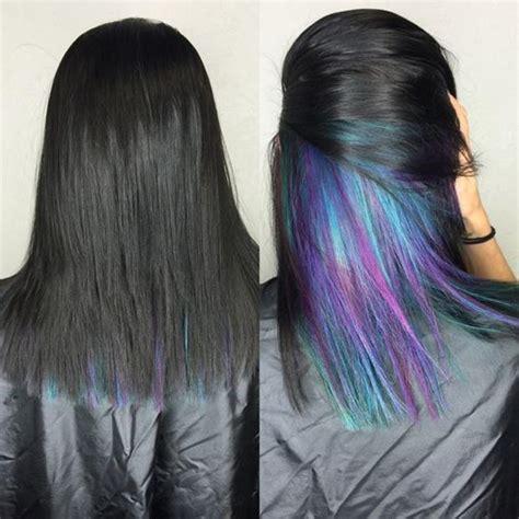 Rainbow Color Hair Ideas | hidden rainbow hair color ideas our motivations art