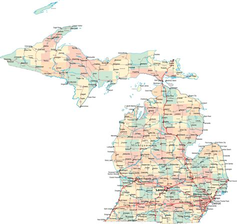 michigan counties map map of michigan