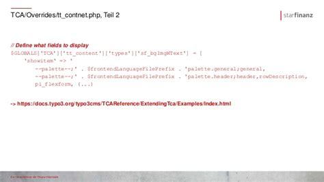 typo3 header layout umbenennen struktur einer typo3 layout extension