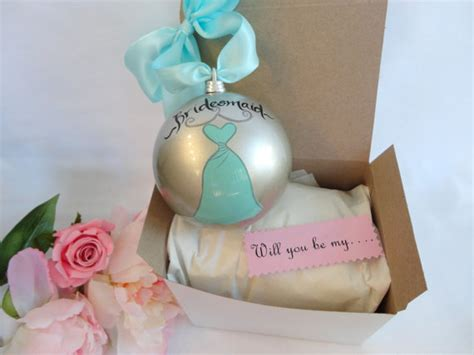 personalized will you be my bridesmaid ornaments comes with