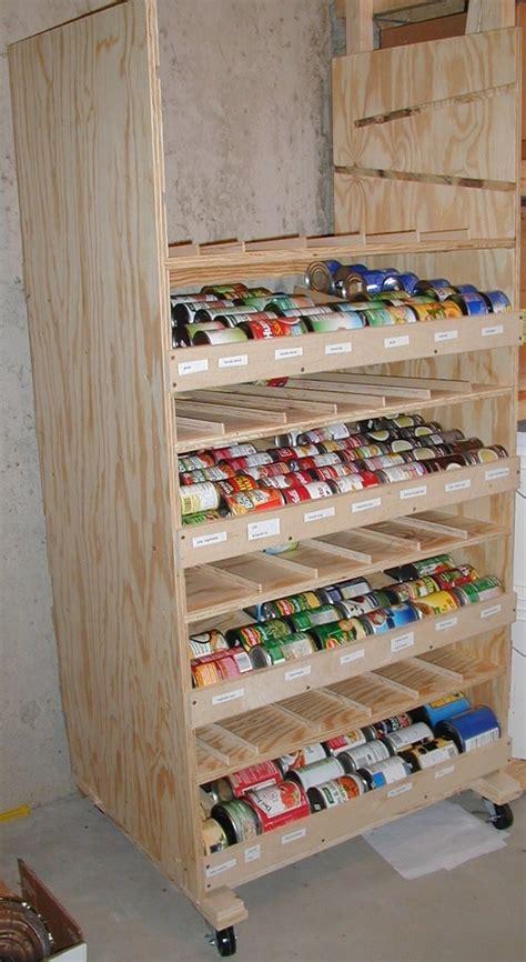 how to build a rotating canned food shelf house