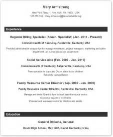 typical resume format recentresumes