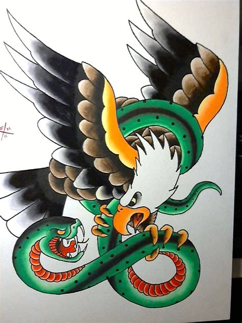 eagle and snake tattoo design eagle and serpent misfitsandheroes tattoos