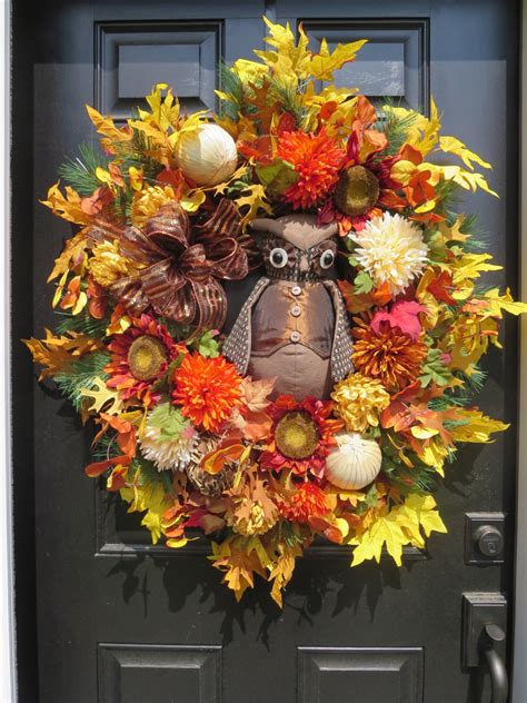 Fall Front Door Wreaths Chandeliers Pendant Lights