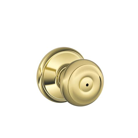 Push Lock Door Knobs by Shop Schlage Privacy Georgian Bright Brass Push