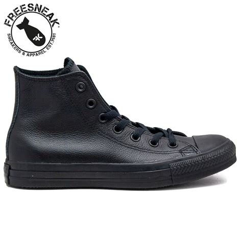 sneakers converse chuck hi total black leather