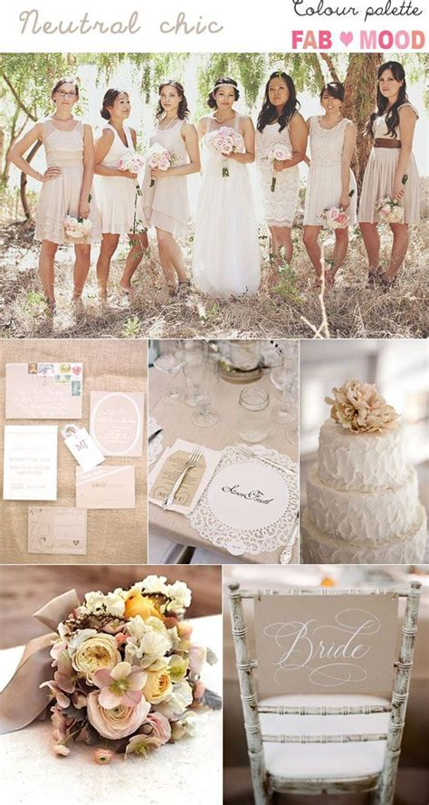 colour themes for evening wedding some neutral wedding inspiration