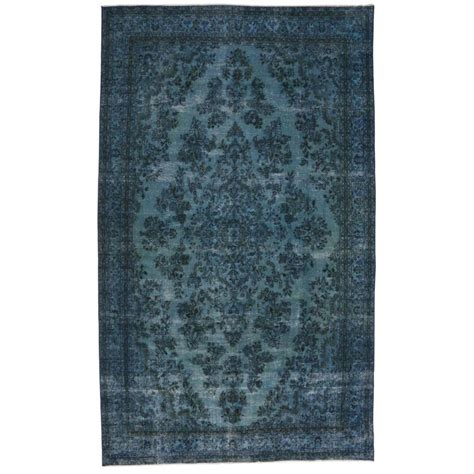 industrial mats rugs overdyed blue rug with modern industrial style gallery rug at 1stdibs