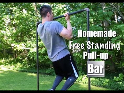 Build A Backyard Pull Up Bar Homemade Free Standing Pull Up Bar Youtube