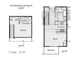 1 bedroom loft floor plans johnson properties