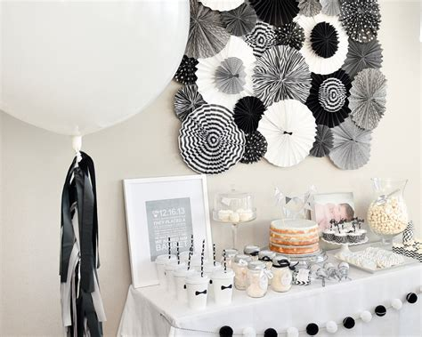 white theme black and white decorations decorations