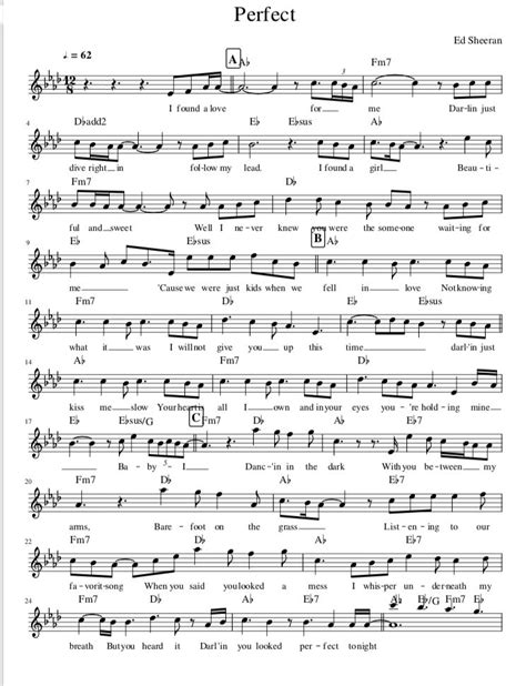 ed sheeran perfect violin perfect de ed sheeran sheet music violine partitions