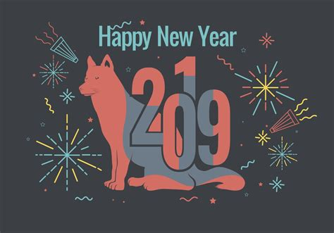 new year in 2019 happy new year 2019 vector free vector