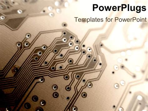 circuit board template powerpoint template up of a printed circuit board