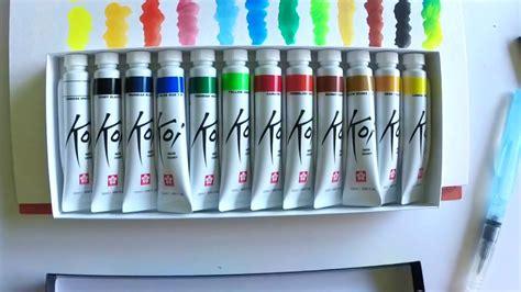 Koi Water Color Pocket Set 18 koi watercolors
