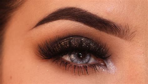 glitter eyeliner tutorial youtube party makeup brown smokey eye with glitter tutorial youtube