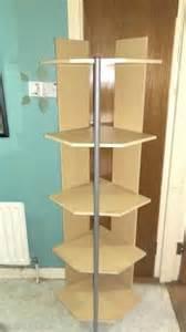 beech colour melamine corner shelf unit for sale in