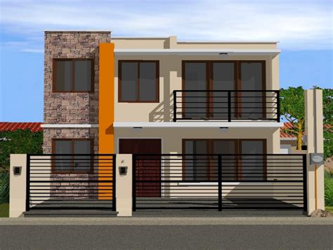 simple 2 storey house design modern house plan modern house plan