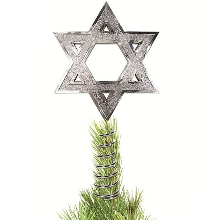 jewish star christmas tree topper hanukkah tree topper buy gifts