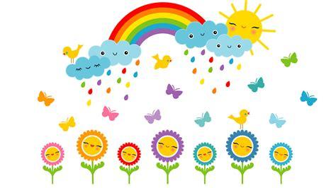 Kinderzimmer Gestalten Regenbogen by Wandsticker Kinderzimmer Regenbogen Mit Blumen Miyo Mori