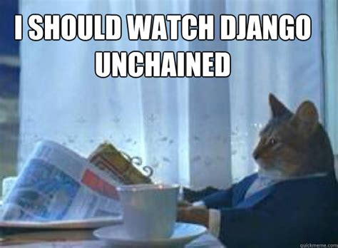 Cat Meme I Should Buy A Boat - i should watch django unchained i should buy a boat cat