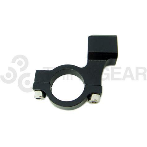 black mirror blocked black motorcycle mirror block mount third gear