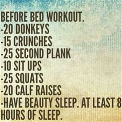 Bedtime Workout On Pinterest Before Bed Workout 30 Day Workouts And September