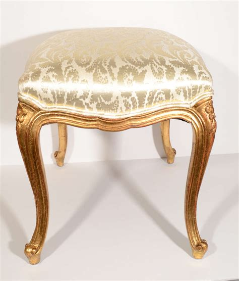 damask bench elegant louis xv gilt wood bench with damask silk