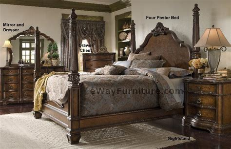 poster bedroom set versailles four poster bedroom set