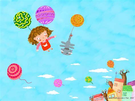 cartoon wallpaper good morning sweet children s illustration good morning 1024x768 no 3