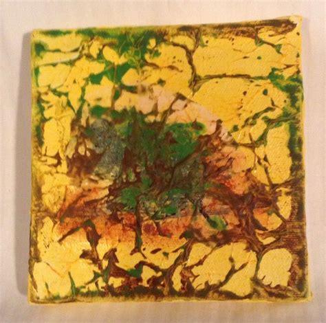 mod podge acrylic paint on canvas mod podge on canvas crinkled tissue paper acrylic paint