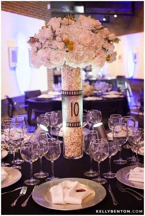 themed reception decor popcorn floral centerpieces bar mitzvah fort wayne