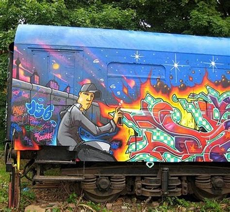 graffiti train wallpaper graffiti on train car art in the street pinterest