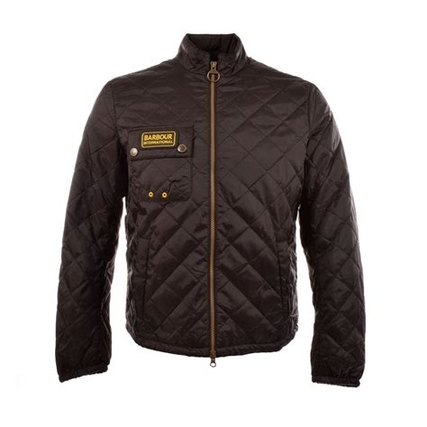 Quilted Jackets Uk by Barbour International Bowmore Black Quilted Jacket