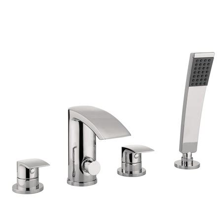 4 Hole Bath Shower Mixer proflow tiera waterfall 4 hole bath shower mixer tap