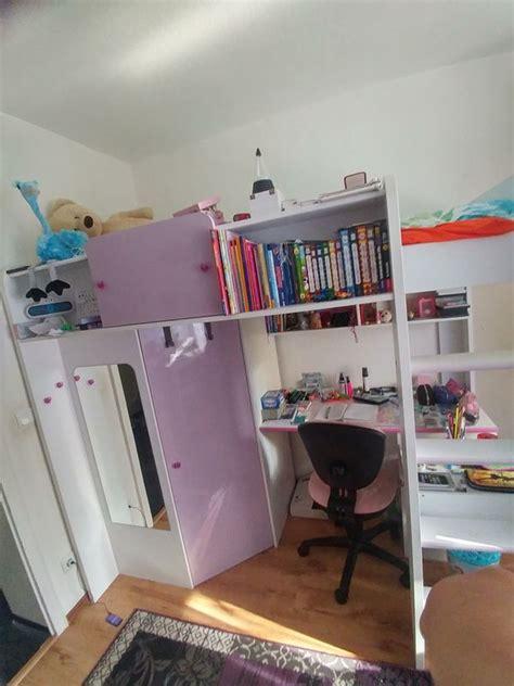 hochbett jugendzimmer mit schreibtisch hochbett integrierter kleiderschrank und schreibtisch in