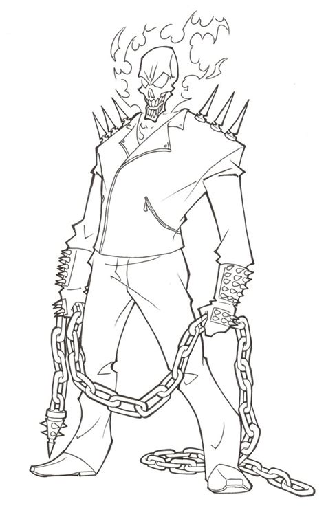 ghost rider coloring pages to print coloring pages
