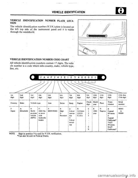 car manuals free online 2005 mitsubishi pajero parking system 100 mitsubishi pajero maint manuals mitsubishi workshop manuals u003e montero v6 3 8l