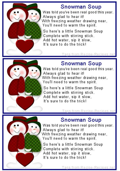 snowman soup templates bing images