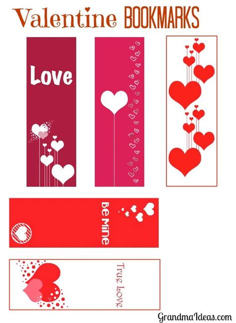 printable heart bookmarks valentines image search and bookmarks on pinterest