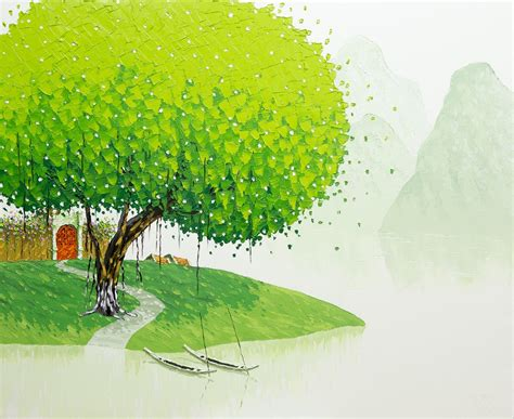 vietnamese landscapes painted  phan thu trang colossal