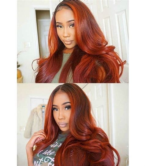 colorful sew ins middle part the 25 best red weave hairstyles ideas on pinterest red
