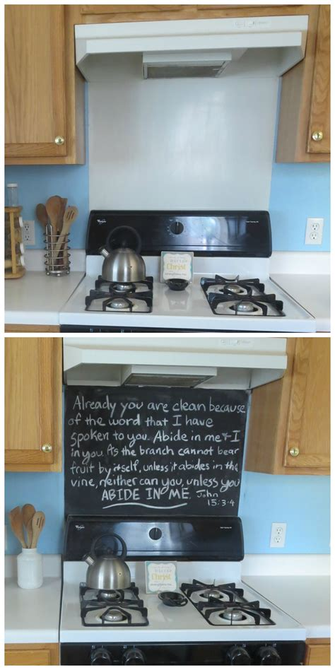 backsplash stove rev your stove backsplash with chalkboard