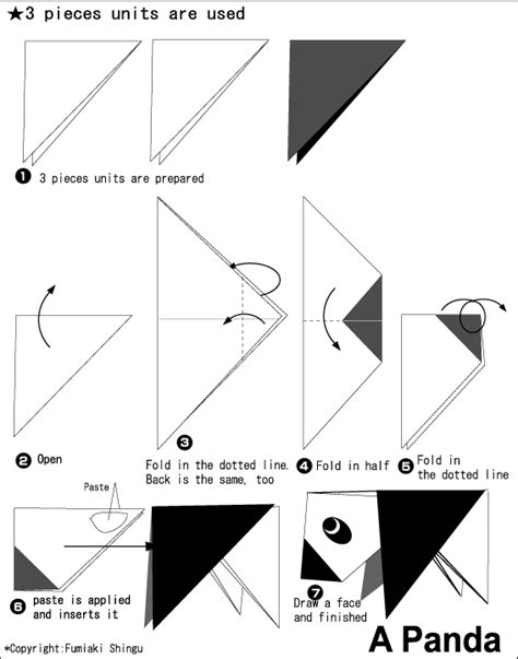 How To Make An Origami Panda - origami a panda easy origami