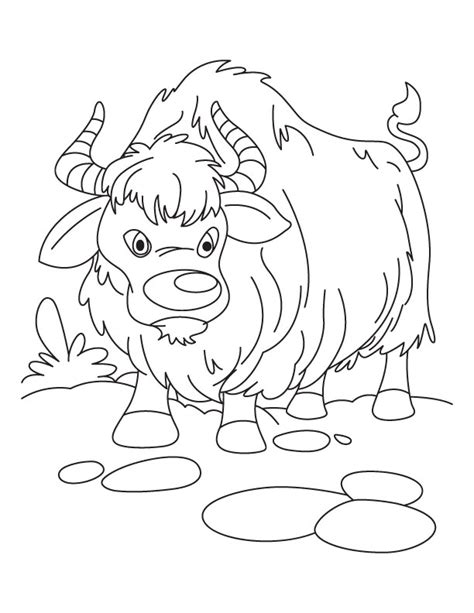 coloring pages yak growling yak coloring pages
