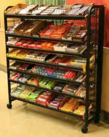premium display rack 48in mobile wire snack display