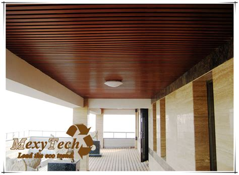 Composite Wood Ceiling by New Design Wpc Material Indoor Composite Wood Ceiling