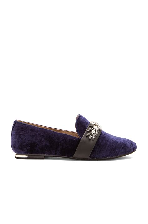 yosi samra loafers lyst yosi samra pippa leather and loafers in blue