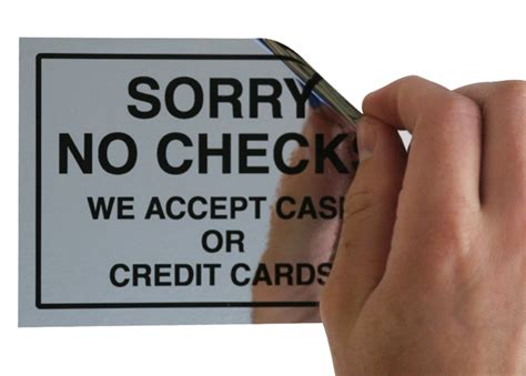 With No Background Check Sorry No Checks We Accept Credit Card Label Sku Lb 2071