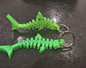 3d printed articulated shark   etsy